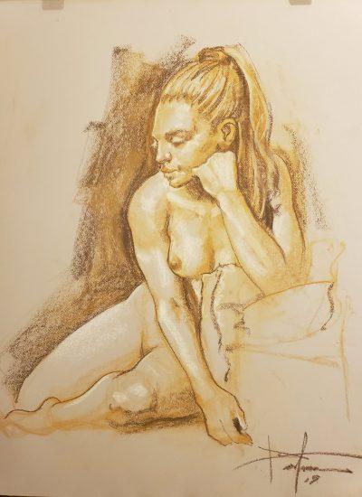 1. life draw pastel