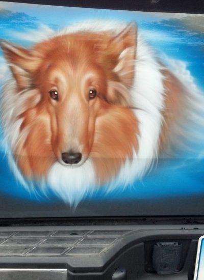 10. Dog portrait tailgate