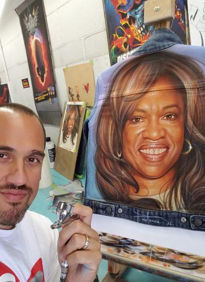 Donda West apparel airbrush