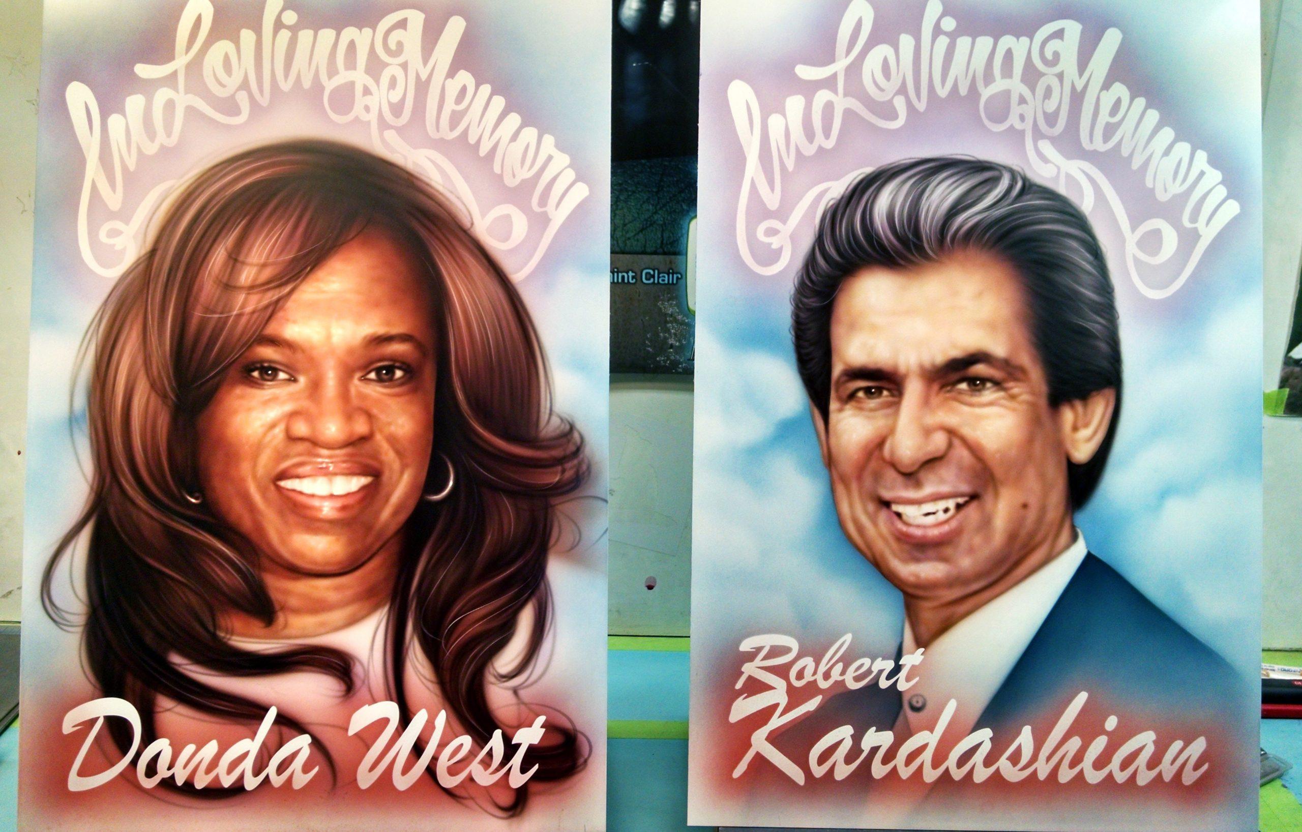 Kanye West Commemorating his Mother and Robert Kardashian