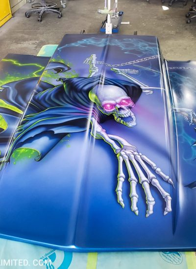 12. Reaper on Camaro hood