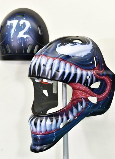 15. Venom goalie mask
