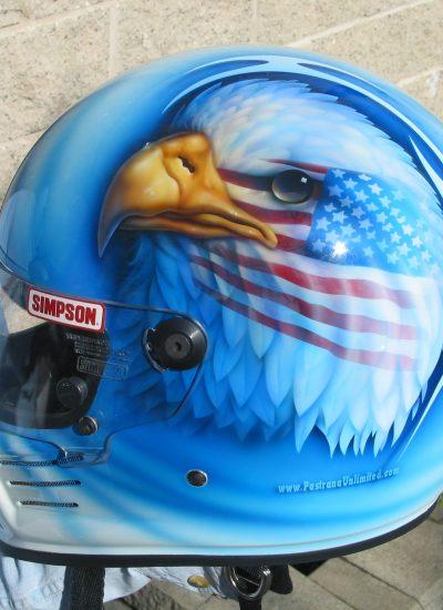 16. Eagle on helmet