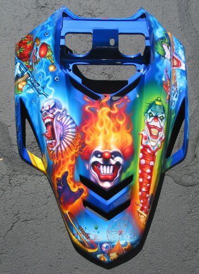 17. Clown Snowmobile