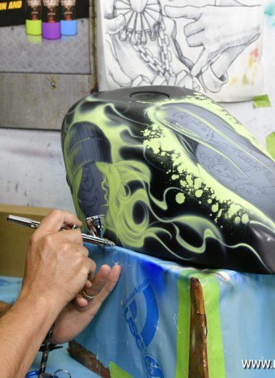 17. Sporty art in progress