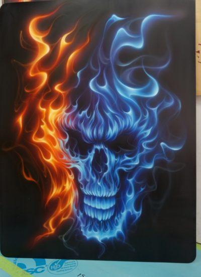 official Fire Skull design for Heron Preston - Pastrana.Unlimited
