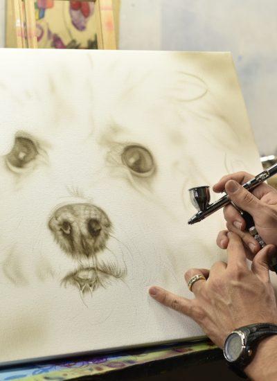 18. Process Dog portrait