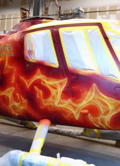 19. Helicopter flames