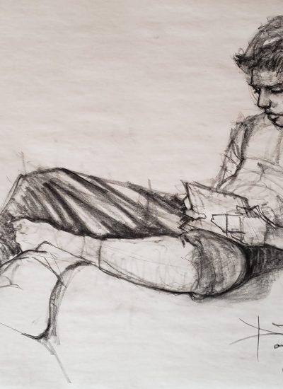 19. lifedraw boy on device charcoal