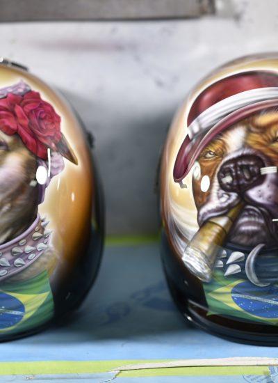 2. Dog helmets