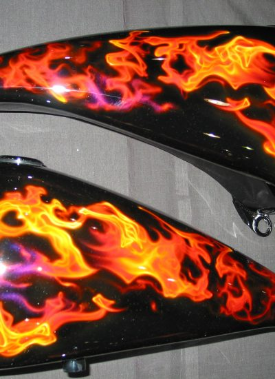 2. Real flames gas tank