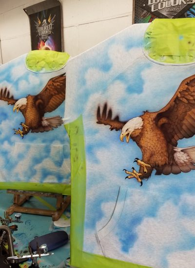 Airbrushed designs for Heron GAP collection - Pastrana.Unlimited