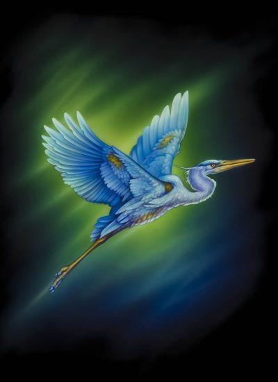 Heron Bird t design - Pastrana.Unlimited