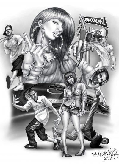 Hip Hop inspired Tattoo design - Pastrana.Unlimited