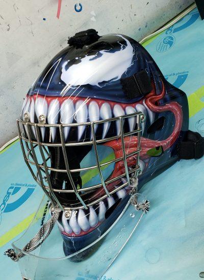 24. Venom goalie mask