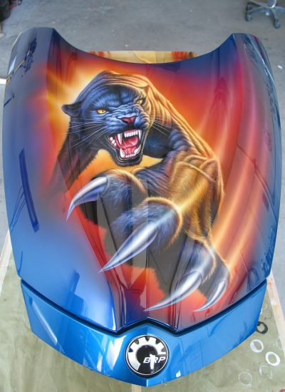 28. Panther on Can Am hood