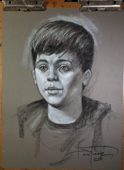 28. boy portrait pastels lifedrawing