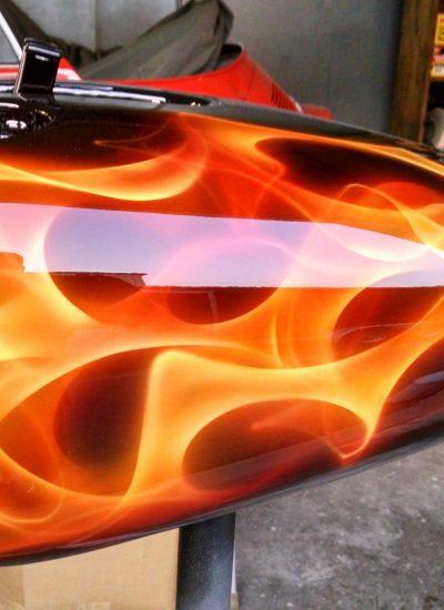 3. flames gas tank