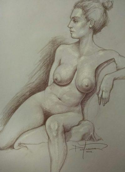3. life draw nude charcoal