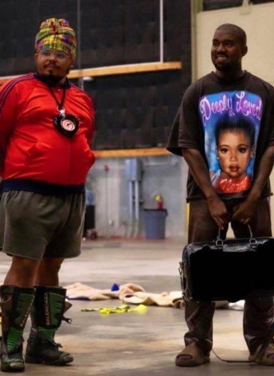 Kanye sporting North Tee