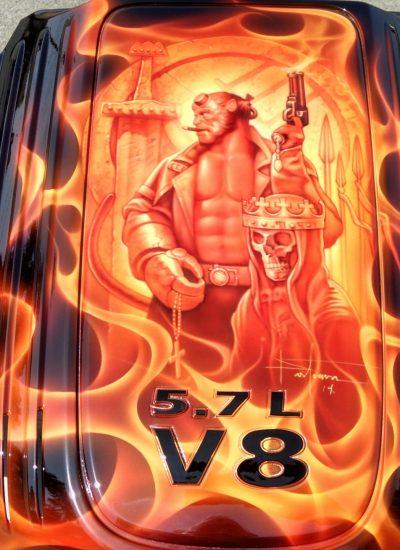 32. Hellboy engine cover