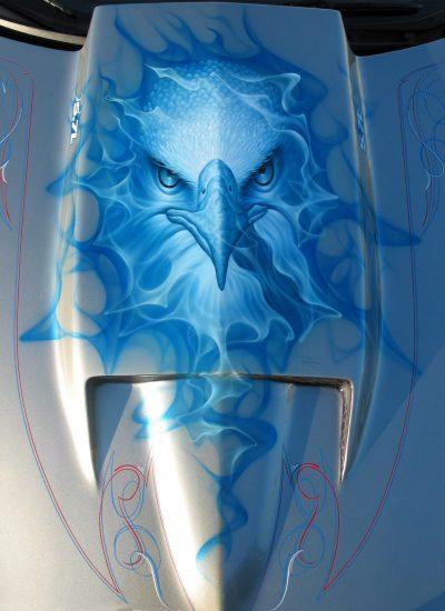 34. Eagle on hood scoop