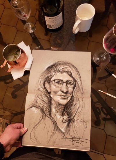 35. coffee table sketchbook charcoal