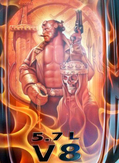 39. Hellboy engine cover