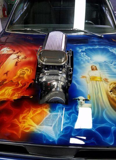 4. Revelations art on Duster hood