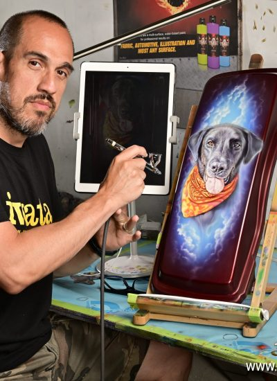 41. Dog portrait in progress