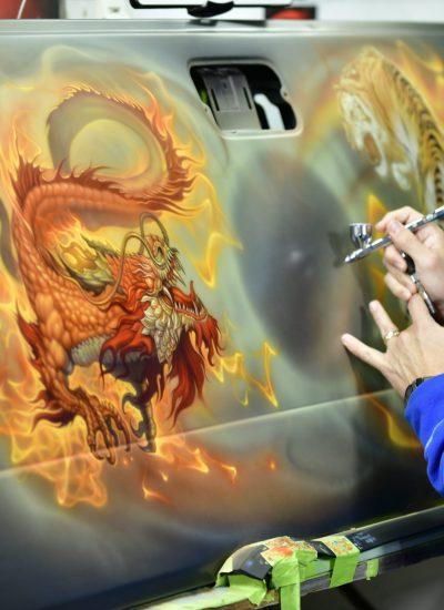 44. Dragon art in progress