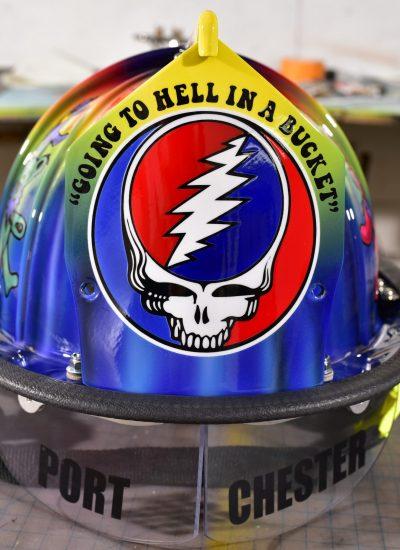 44. Greatful dead fire helmet