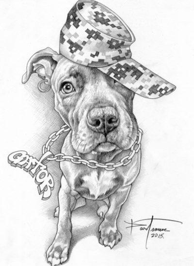 45. concept sketch of Gator puppy