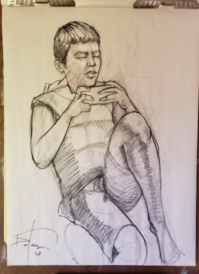 47. charcoal sketch