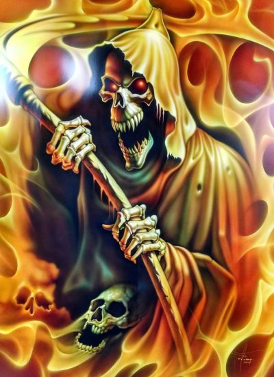 5. Reaper art on hood