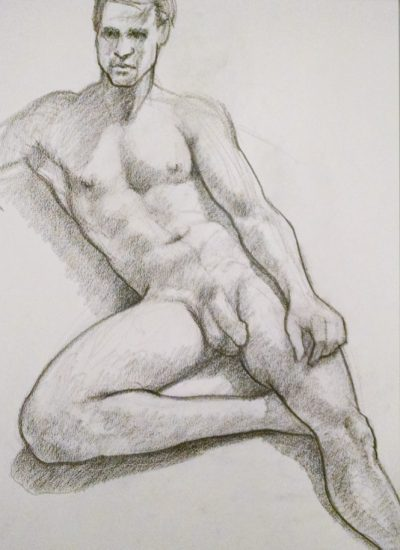 5. life draw male nude charcoal