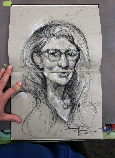 53. sketchbook charcoal