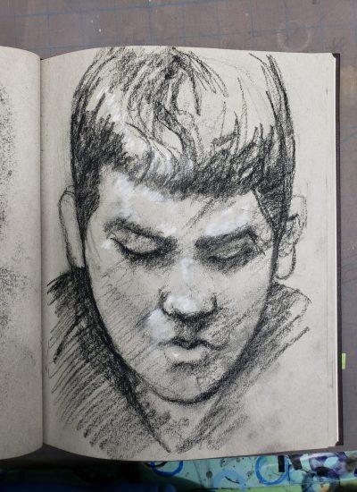 55. sketchbook charcoal