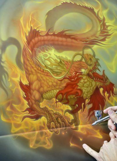 6. Dragon tailgate in progress