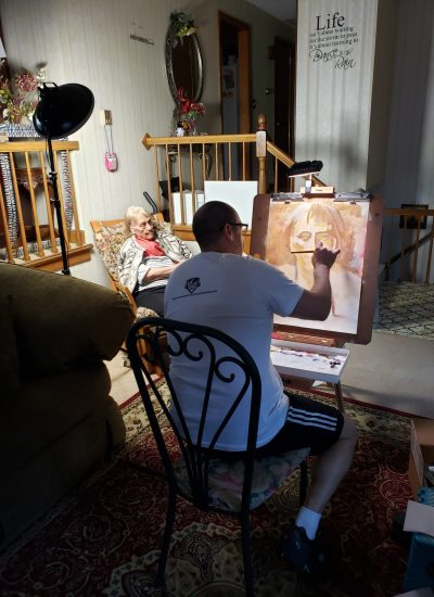 63. life painting session with sitter