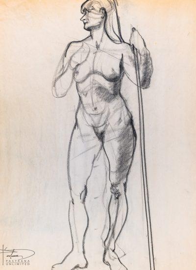 67. gesture sketch charcoal