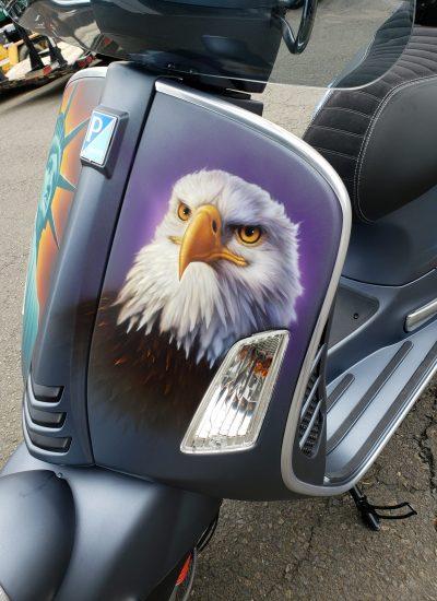 7. Eagle on Vespa