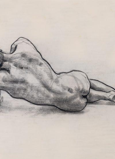 73. lifedraw man laying charcoal