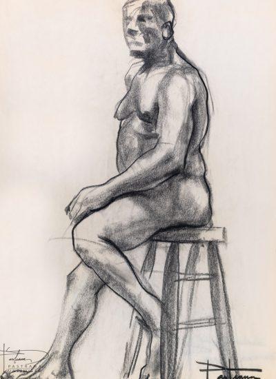 79. lifedraw male nude sitting