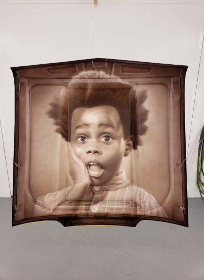 8. Buckwheat portrait underside of hood