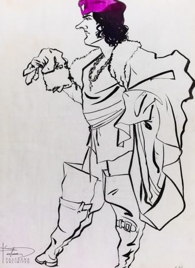 80. life sketch brushed ink