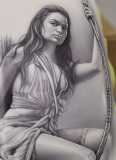 83. Warrior girl
