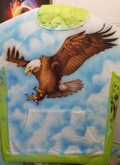 9. Custom airbrushed Eagle art for GAP collection