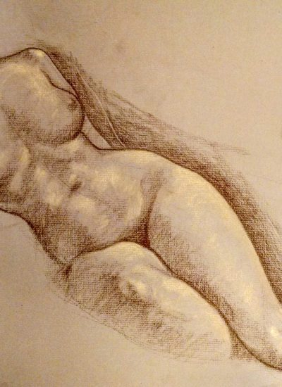 9. life draw nude charcoal
